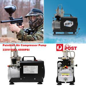 220V 4500 psi High Pressure Portable Air compressor Paintball Tank Refill Manual