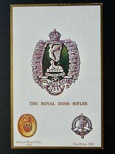 Regimental Badges THE ROYAL IRISH RIFLES Postcard by Gale & Polden 1646