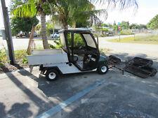 Club Car Carryall Turf 2 Gas Engine Golf Cart Standard 3 Gang Ball Picker 52 Hrs