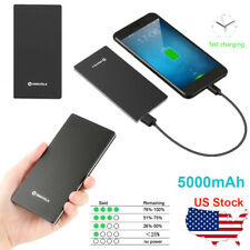 Ultra Thin 5000mAh Power Bank Portable Battery Pack Charger For Cell Phone US
