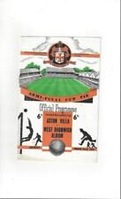 Away Teams S-Z West Bromwich Albion Football FA Cup Fixture Programmes
