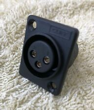 Socket XLR 3 pin female for screw panel mounting & soldering CLIFF model CP3001