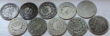 (10) 1866-1883 Shield Nickel AG/G Coins