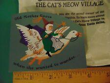 Fj Designs The Cat's Meow Village - 1997 Mother Goose Accessory # 283 Mint