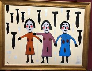 """MAJOR WORK BY DAVID TINSLEY (1951-), LISTED NATIONALLY KNOWN OUTSIDER ARTIST 24"""""""