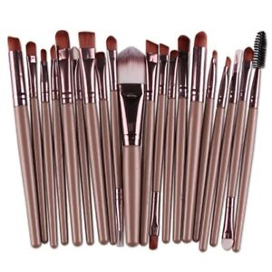 20PCS MAKEUP BRUSHES Set SHADOW Foundation Powder EYELINER Lip Cosmetic Tool Kit