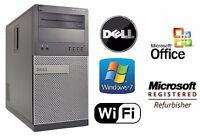 Dell Optiplex i5 PC Wifi Desktop Intel Core i5-2400 3.1GHz 8GB 1TB Windows 7 Pro