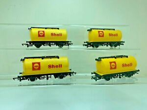 HORNBY R132 SHELL TANKERS X 4 GOOD/EXCELLENT CONDITION  SEE DESCRIPTION