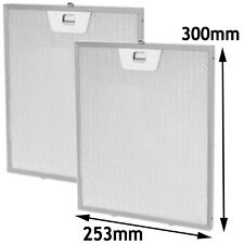 LEISURE Genuine Cooker Hood Filters Metal Extractor Vent Mesh 300mm x 253mm x 2