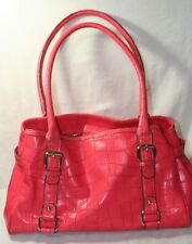Croft & Barrow Pink Coral Triple Compartment Satchel
