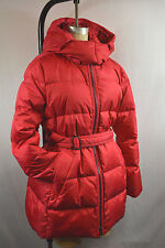 Coach Authentic Women's Center Zip Hooded Puffer Parka Coat w/Belt XL F83993 NWT