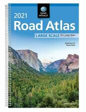 Rand McNally 2021 Large Scale Road Atlas Spiral-bound United States Atlases Maps