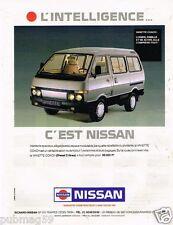 Publicité Advertising 1989 Nissan la Vanette Coach