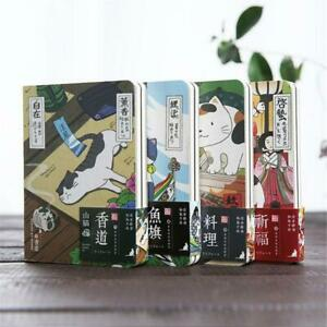 Cute Creative Japanese Cat Notebook Planner Agenda Diary Hard Cover