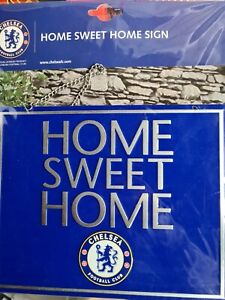 Chelsea F.C. Home Sweet Home Hanging Metal Sign New Present Christmas Gift