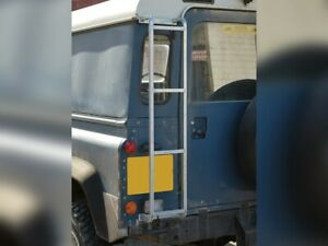 LAND ROVER DEFENDER AND SERIES REAR GALVANISED ROOF RACK ACCESS LADDER DA1089