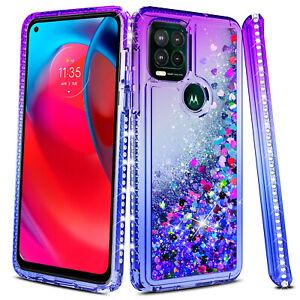 For Motorola Moto G Stylus / G Stylus 5G 2021 Liquid Bling Case/Screen Protector