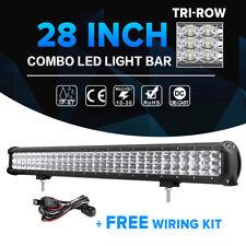 "TRI-ROW 28inch 900W CREE LED Light Bar Spot Flood Offroad ATV SUV UTE 4x4WD 30"""