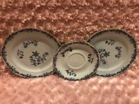 """Rorstrand Two (8 2/8"""") Salad Plates & One (6 6/8"""") Saucer East Indies Ostindia"""