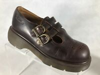 Dr. Martens Women Brown Leather Mary Jane Shoes AW004 us9/uk7         M2