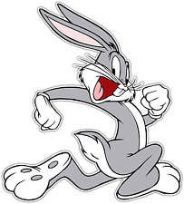 "Bugs Bunny Kids Cartoon Car Bumper Window Locker Sticker Decal 5""X4"""