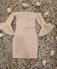 Nude bardot dress Size 8 Missguided