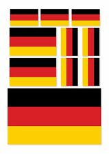 10 X GERMAN FLAG VINYL GERMANY CAR VAN IPAD LAPTOP STICKERS