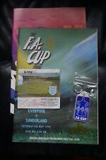 More details for liverpool v sunderland 1992 fa cup final programme/poster/keyring and ticket