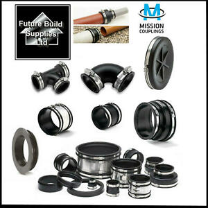 Plumbing & Drainage Flexible Rubber Boot Reducer Coupling Adaptor Pipe Connector