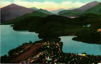 Vintage Postcard - Lake Placid And Mirror Lake From Airplane New York NY #1811