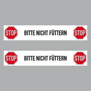 2 Sticker 7 7/8in Sticker Stop Please Not Fed Notice Zoo Animal 4061963068687