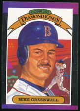 1989 Donruss Diamond Kings #1 Mike Greenwell Boston Red Sox