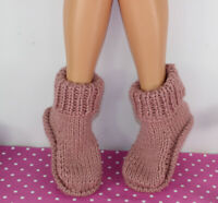 KNITTING KNITTING INSTRUCTIONS- SIMPLE SUPER CHUNKY SLIPPERS KNITTING PATTERN