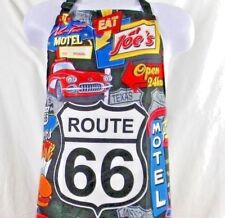 Route 66 Apron 100% Polyester Bbq Chef's Iconic Scenes Along Historic Highway