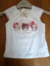 SILVIAN Heach Dolls per Cupcake Bianche T-shirt 9 LAV £ 18 BNWT