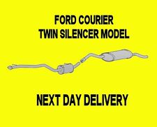 FORD FIESTA COURIER 1.8 DIESEL EXHAUST CENTRE MIDDLE & REAR SILENCER TAIL PIPE