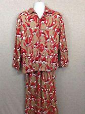 Nick & Nora Womens Santa Sock Monkey Two Piece Pajamas Size XL