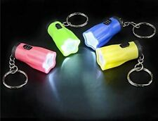 Lot Of 12 Mini Flashlight Key Chains, Led Batteries Included, Bright Goody Bags