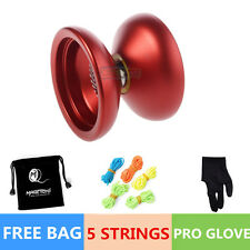 Magic YOYO Ball N12 SHARK HONOR Aluminum Alloy Kids Toys Red 5 String 1B FREE