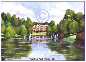 """HIMLEY POOL, Nr.DUDLEY WEST MIDS WATERCOLOUR ARTISTS PRINT GREETINGS CARD 8""""x 6"""""""