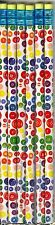 Bright colored buttons on white pencils. Set of 6!
