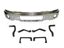 Front Bumper Chrome Face Bar Mounting Bracket Brace 7pc FOR F150 2009-14 w/Hole