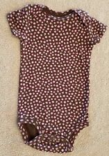 CLEARANCE! CARTER'S 6-9 MONTH PINK & BROWN FLORAL BODYSUIT