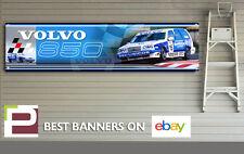 Volvo 850 BTTC Banner, Workshop, Garage, Track, Rickard Rydell, 1300mm x 325mm