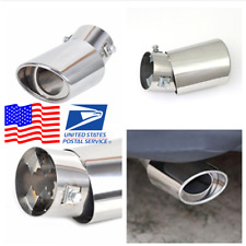 Stainless Chrome Angled Car Exhaust Pipe Tip Tail Muffler Universal US Shipping