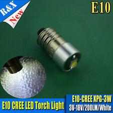 1X E10 LED Positive Earth Bulb Land Rover Vintage Classic 3-18V CREE XPG-2 200LM