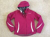 Spyder AXYS Womens Ski Winter Jacket Size 10 M/L Purple Hooded Insulated Vented