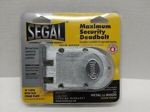 Segal Maximum Security Deadbolt SE 15323 Shutter Guard Theft Protected NEW
