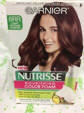 Garnier Nutrisse Nourishing Color Foam 6RR Light Intense Auburn Hair color NEW