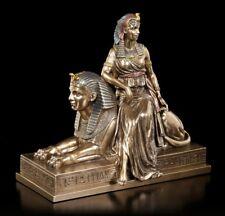 Cleopatra Figura SENTADO SOBRE SPHINX - VERONESE Bronceada Estatua Decoración